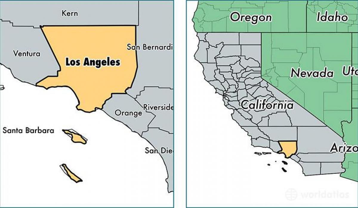 La I Kalifornien Karta Las Angeles I Kalifornien Karta